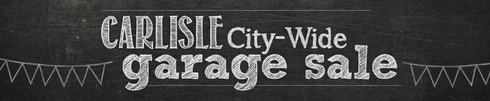 Carlisle City-Wide Garage Sale Header